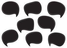 Черный набор пузырей speesh Пустые пустые диалоговые окна также вектор иллюстрации притяжки corel иллюстрация вектора