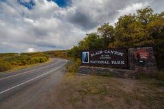 черный национальный парк gunnison каньона Стоковая Фотография RF