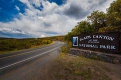 черный национальный парк gunnison каньона Стоковое Изображение RF
