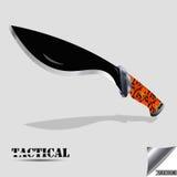 черный нож тактический Стоковое Фото