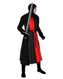 черный нормандец рыцаря chainmail Стоковая Фотография RF