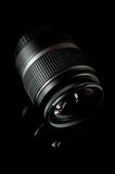 Черный объектив фотоаппарата Стоковая Фотография RF