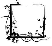 черный овощ орнамента бабочки 3 против Стоковое Фото