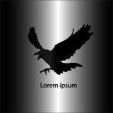 Черный логотип кроны Стоковая Фотография