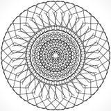 Черный орнамент на белой предпосылке Стоковое Фото