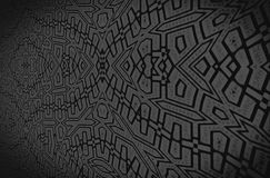 Черный орнамент на темной серой предпосылке Стоковое Фото