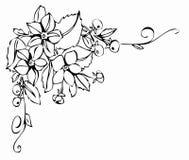 черный орнамент цветка Стоковые Фотографии RF
