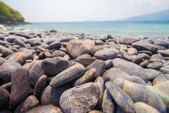 Черный остров камешка Стоковое фото RF