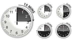 черный отметчик времени Стоковое Изображение