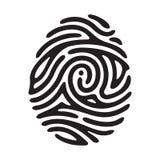 Черный отпечаток пальцев иллюстрация вектора