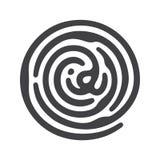 Черный отпечаток пальцев ID иллюстрация штока