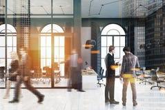 Черный офис кирпича, конференц-зал, люди Стоковые Фото