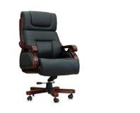 черный офис кожи стула Стоковая Фотография RF