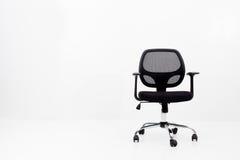 черный офис кожи стула Стоковое Фото