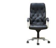 черный офис кожи стула Стоковое Изображение RF