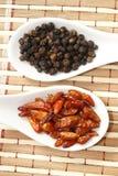 Черный перец и chili Стоковые Фото