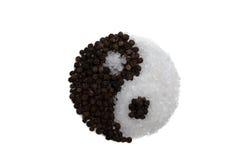 Черный перец, соль моря Стоковые Фото