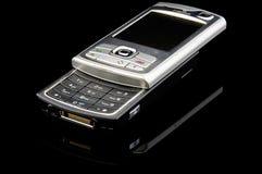 черный передвижной модельный старый телефон Стоковые Изображения RF