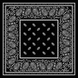 Черный пестрый платок Стоковое фото RF