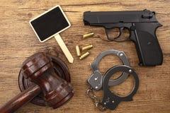 Черный пистолет с классн классным стоковая фотография rf