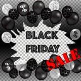 Черный плакат продажи пятницы Стоковое Изображение