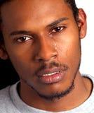 черный плача человек Стоковая Фотография RF