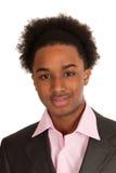 черный подросток портрета стоковые изображения rf