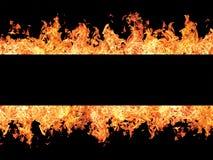 черный пожар пылает нашивка Стоковая Фотография RF