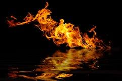 черный пожар стоковое изображение