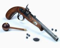 черный порошок пистолета Стоковое Фото