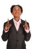 черный портрет бизнесмена стоковое изображение