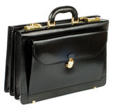 Черный портфель стоковые фотографии rf