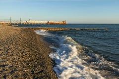 черный прибой Украина моря Крыма свободного полета стоковое фото rf