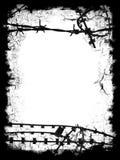 черный провод бритвы рамки Стоковые Фото