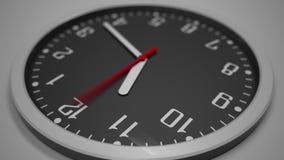 Черный промежуток времени часового циферблата отснятый видеоматериал 4k Ожидать концепции видеоматериал