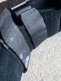 Черный протезные или медицинские ботинок, бросание или обувь стоковые фото