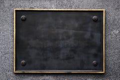 черный пустой знак Стоковая Фотография RF