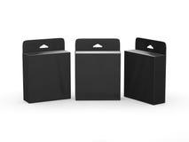 Черный пустой пакет патрона чернил коробки с путем клиппирования Стоковые Изображения