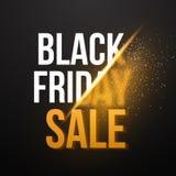 Черный плакат Exlosion продажи пятницы Огромная продажа 25-ое ноября Стоковые Фото