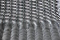 Черный пластичный basketwork в горизонтальном и вертикальном взгляде Стоковое Изображение RF