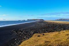 Черный пляж, Исландия Стоковая Фотография
