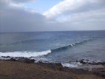 Черный пляж Стоковые Изображения RF