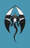 черный дракон Стоковые Фото