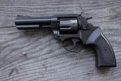 Черный револьвер Стоковые Фото