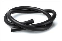 Черный резиновый шланг стоковое изображение