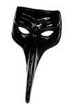 черный ренессанс маски масленицы Стоковая Фотография