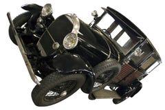 Черный ретро автомобиль Стоковая Фотография