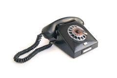 Черный ретро телефон Стоковая Фотография RF