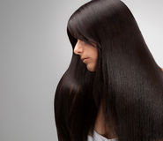 Черный ретушировать качества Hair.Good Стоковое Фото