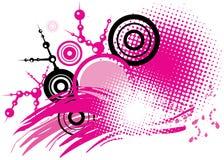 черный розовый вектор Стоковые Изображения